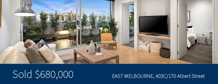 403C/170 Albert Street, East Melbourne - Sold for $680,000