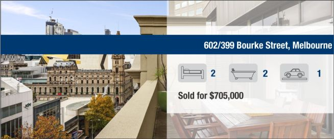 602/399 Bourke Street, Melbourne - Sold