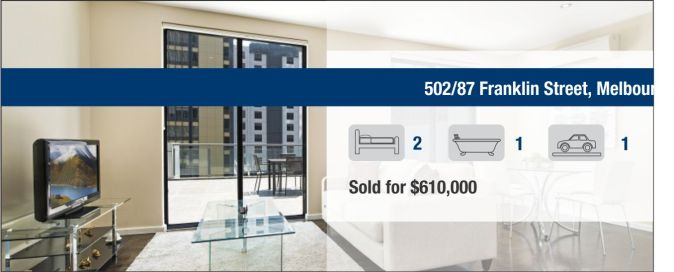 502/87 Franklin Street, Melbourne - SOLD at Auction